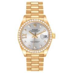 Rolex President Ladies 18k Yellow Gold Diamond Ladies Watch 279138 Box Card