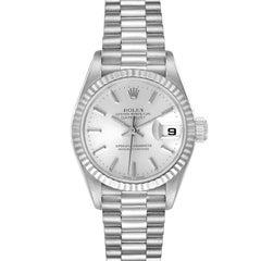 Rolex President Ladies White Gold Silver Dial Ladies Watch 79179