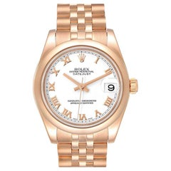 Rolex President Midsize 31 White Dial Rose Gold Ladies Watch 178245
