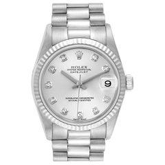 Rolex President Midsize White Gold Diamond Ladies Watch 78279