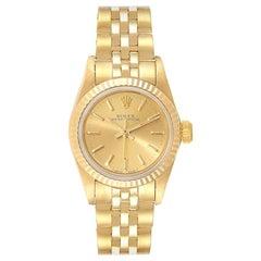 Rolex President No-Date 14 Karat Yellow Gold Ladies Watch 67198