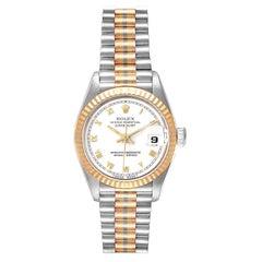 Rolex President Tridor White Yellow Rose Gold Ladies Watch 69179