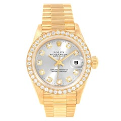 Rolex President Yellow Gold Diamond Ladies Watch 69138 Box Papers