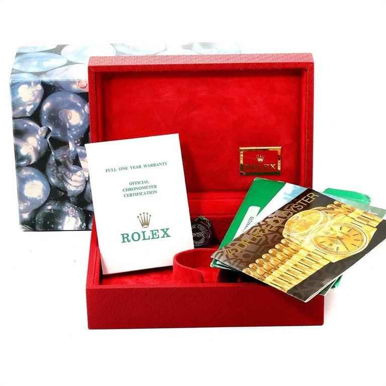 Rolex President Yellow Gold String Dial Diamond Ruby Ladies Watch 69068 8