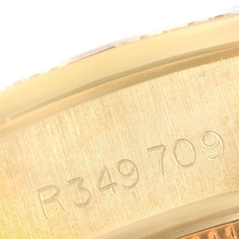 Rolex President Yellow Gold String Dial Diamond Ruby Ladies Watch 69068 3