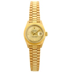 Rolex Presidential Datejust 18 Karat Gold Wristwatch