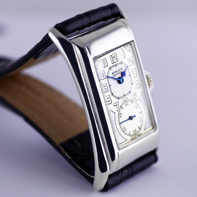 Women's or Men's Rolex Prince Brancard, Art Deco, Silver, 1929 For Sale
