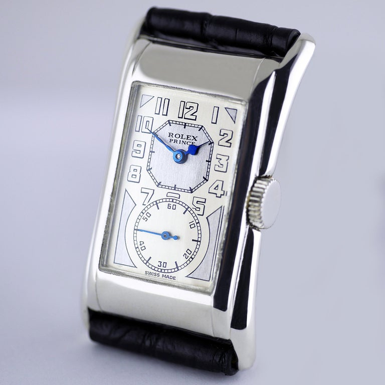 Rolex Prince Brancard, Art Deco, Silver, 1929 For Sale 2