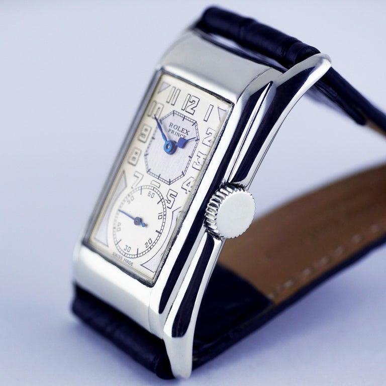Rolex Prince Brancard, Art Deco, Silver, 1929 For Sale 3