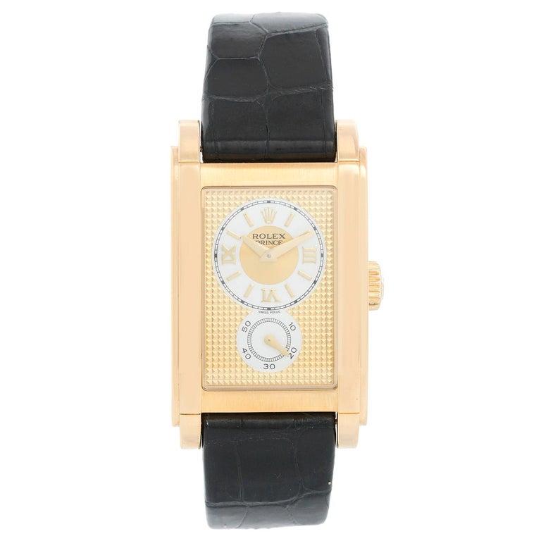 Rolex Prince Cellini Men's 18 Karat Yellow Gold Watch 5440/8 For Sale