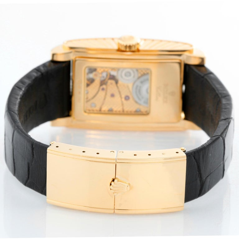 Rolex Prince Cellini Men's 18 Karat Yellow Gold Watch 5440/8 In Excellent Condition For Sale In Dallas, TX