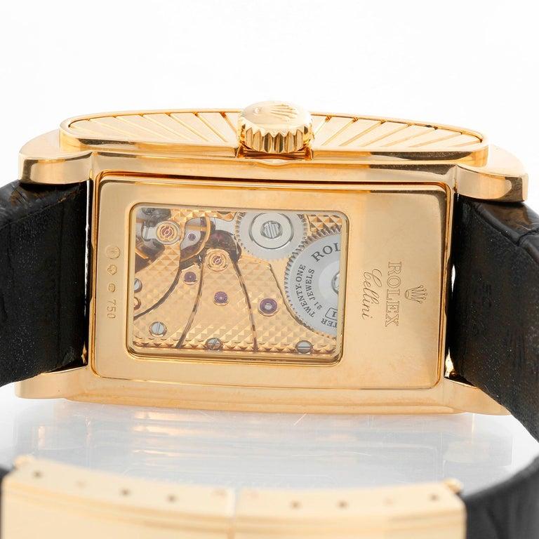 Rolex Prince Cellini Men's 18 Karat Yellow Gold Watch 5440/8 For Sale 1