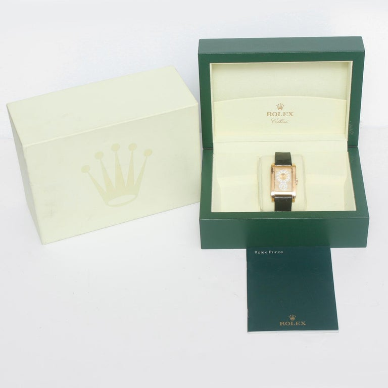 Rolex Prince Cellini Men's 18 Karat Yellow Gold Watch 5440/8 For Sale 2