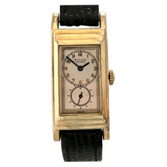 Rolex Prince Drs. Duo Dial 1930s Wristwatch Gold Filled and Steel Case