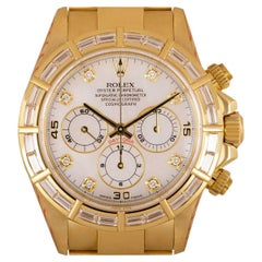 Rolex Rare Zenith Movement Cosmograph Daytona 18k Yellow Gold Mother of Pearl