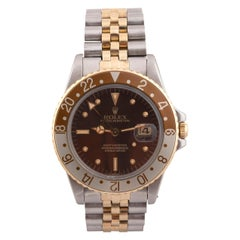 Rolex Ref 16753 GMT-Master Steel and Gold Oyster Perpetual Wristwatch