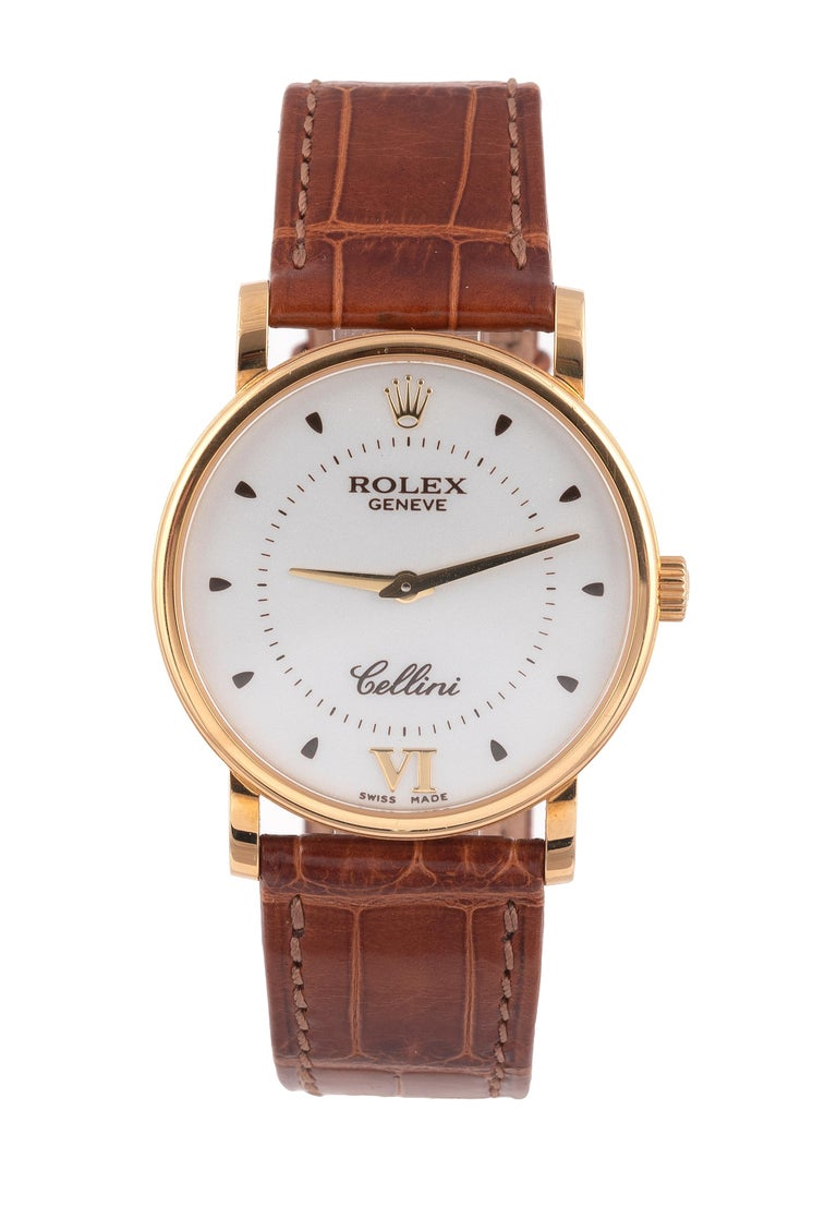 Contemporary Rolex Ref. 5115 Cellini 18kt Yellow Gold Wristwatch For Sale