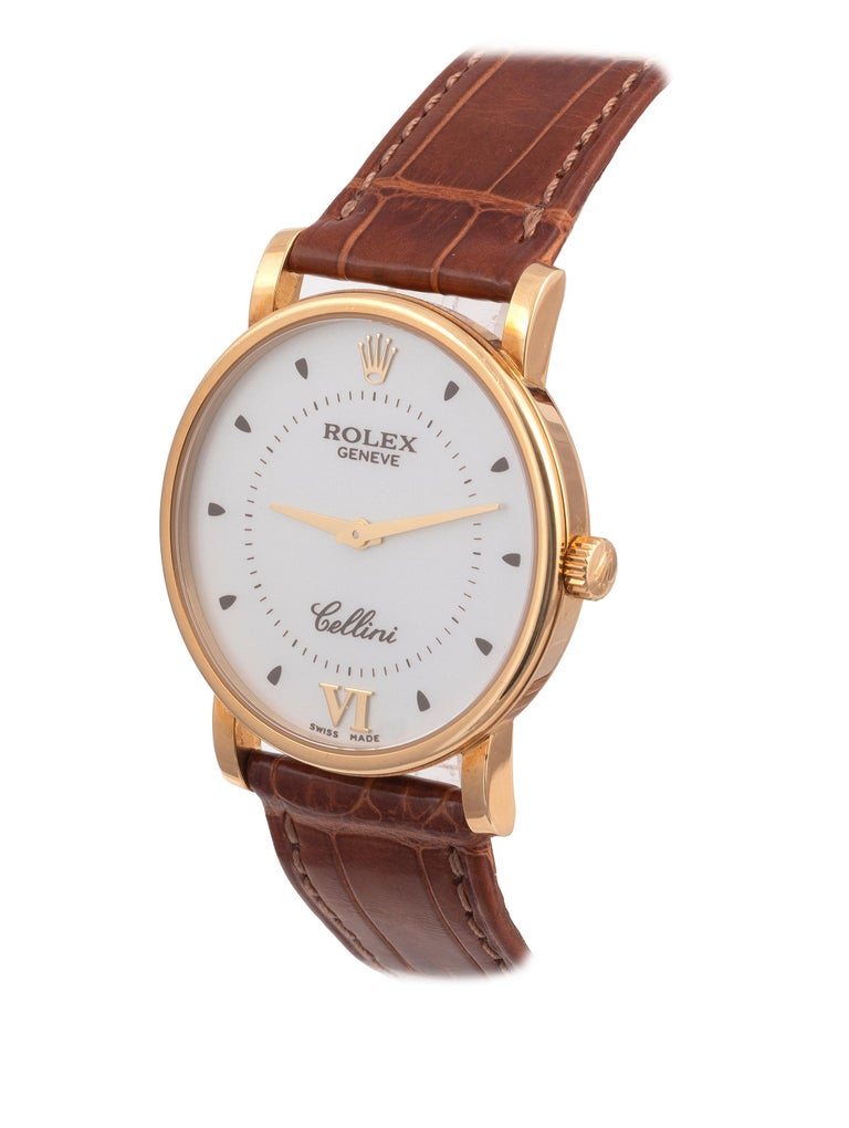 Rolex Ref. 5115 Cellini 18kt Yellow Gold Wristwatch In Excellent Condition For Sale In Firenze, IT