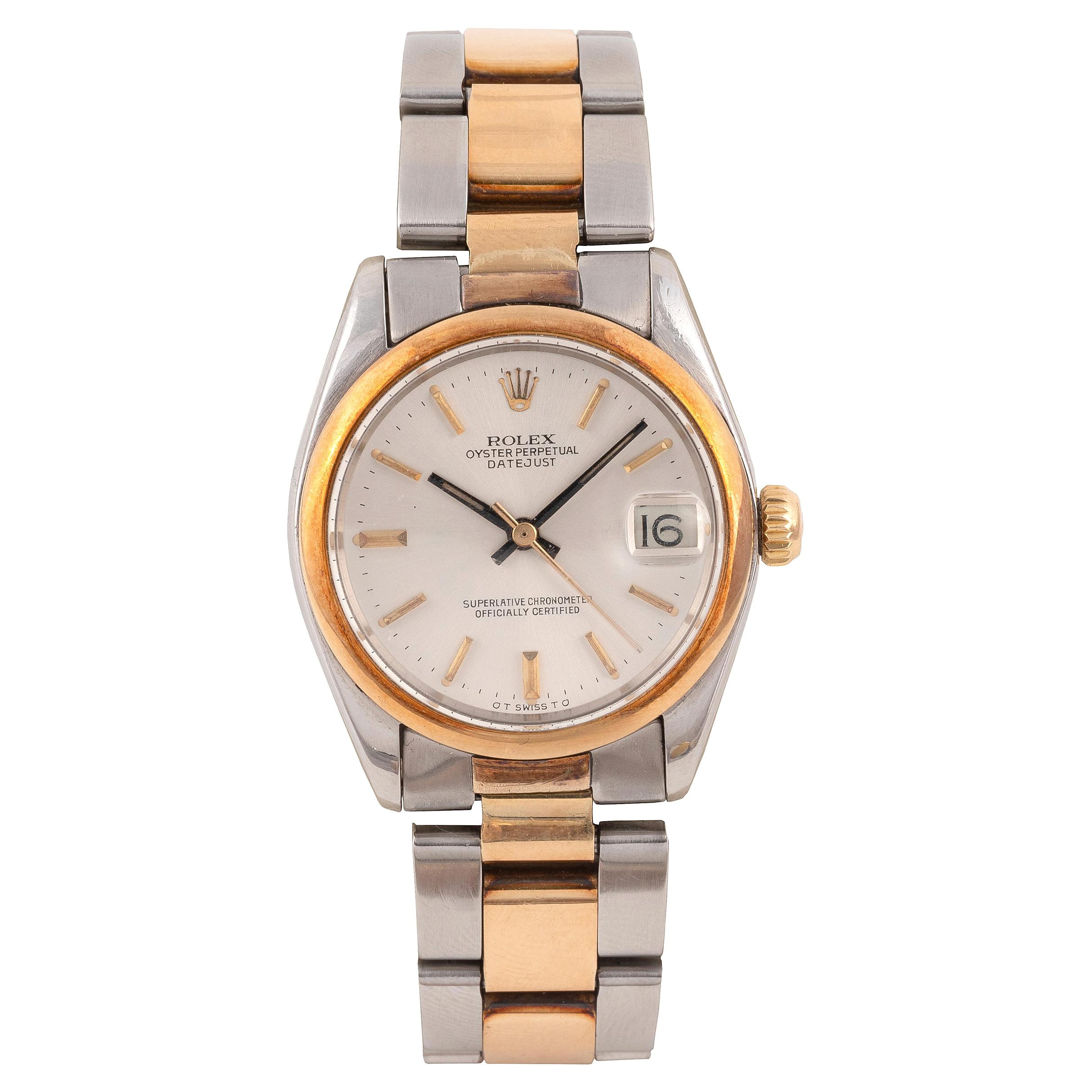 Rolex Ref. 6824 Datejust Oyster Perpetual Steel and Gold Wristwatch