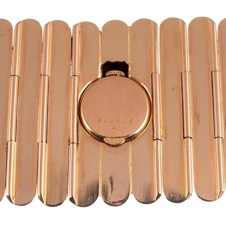 Rolex Retro Rose Gold Oversized Bracelet Watch For Sale 3