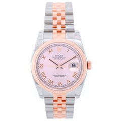 Rolex Rose Gold Stainless Steel Datejust Automatic Wristwatch Ref 116231