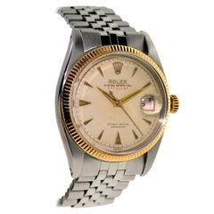 Rolex Rose Gold Stainless Steel Datejust Watch, circa 1956