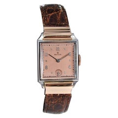 Rolex Rose Gold Stainless Steel Dress Watch, 1930's