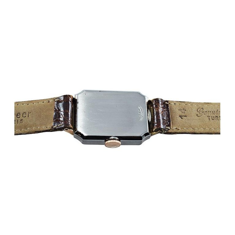 Rolex Rose Gold Stainless Steel Watch For Sale 3