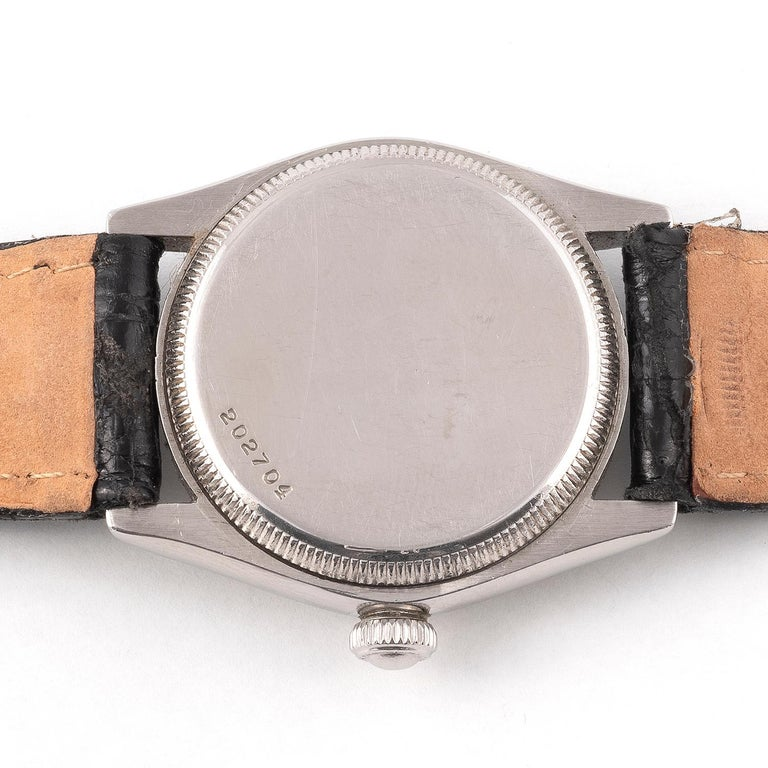 Art Deco Rolex Royal Retailed by Forbes Steel Wristwatch For Sale