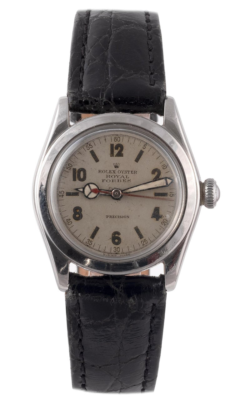 Rolex Royal Retailed by Forbes Steel Wristwatch In Excellent Condition For Sale In Firenze, IT