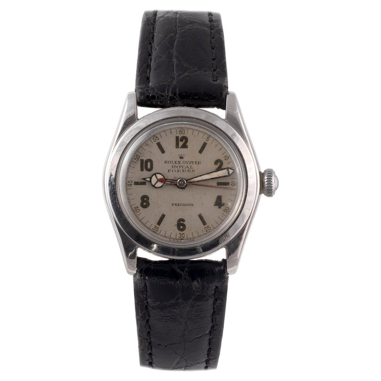 Rolex Royal Retailed by Forbes Steel Wristwatch For Sale