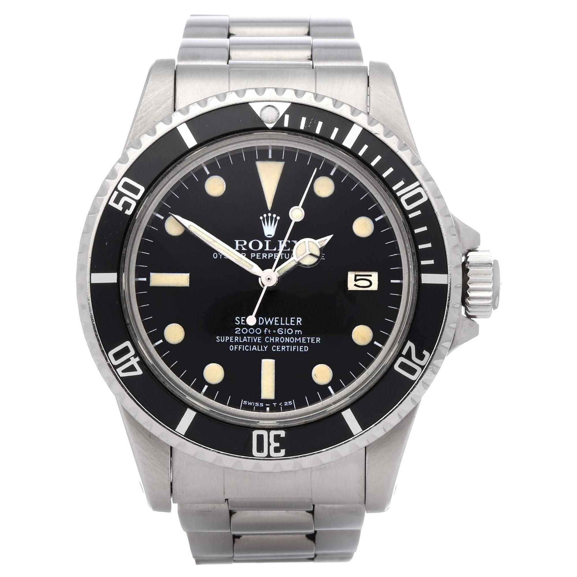 Rolex Sea-Dweller 0 1665 Men's Stainless Steel MK1 Dial Watch