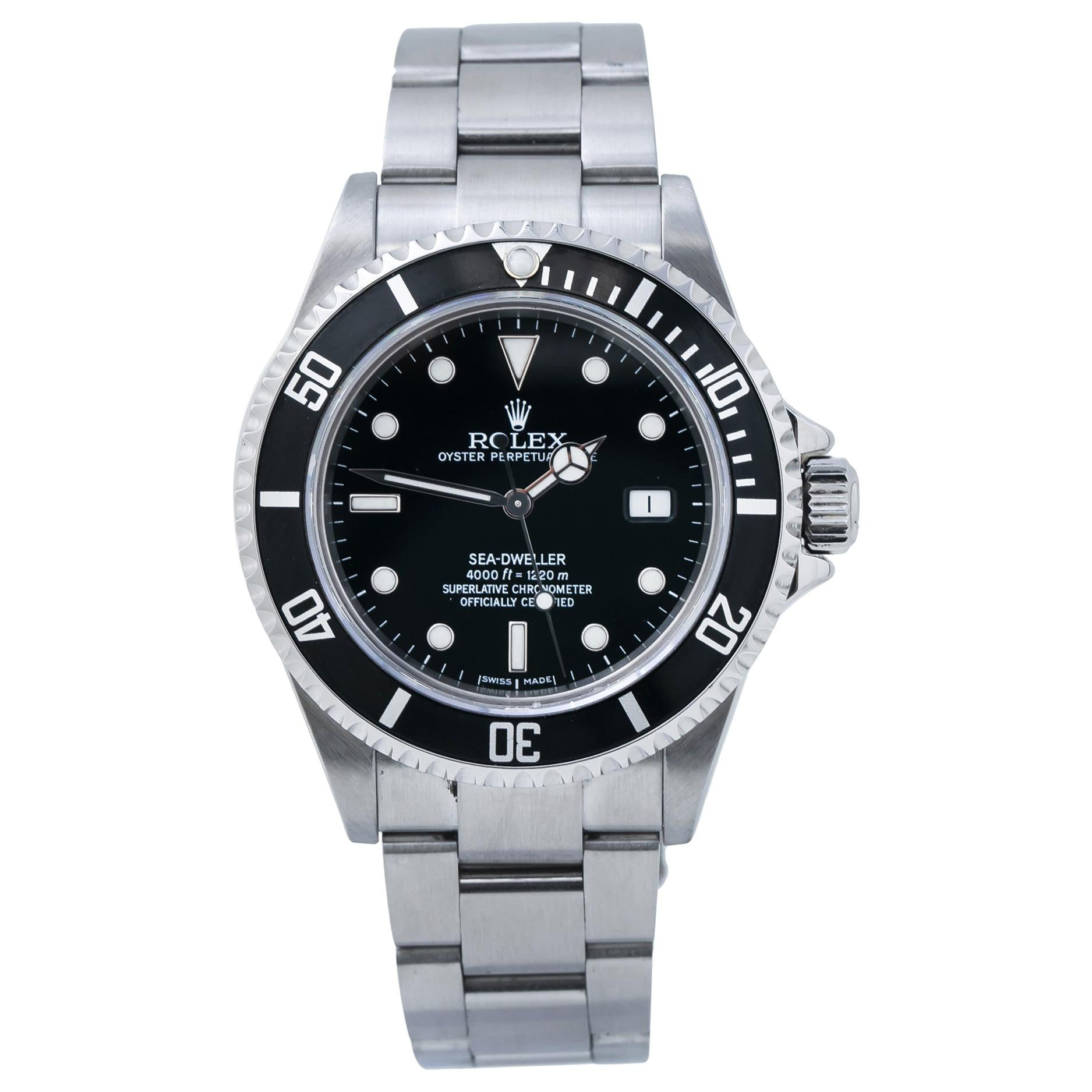 Rolex Sea-Dweller 16600, Black Dial, Certified and Warranty