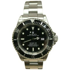 Rolex Sea Dweller 16600 Black Dial Stainless Steel Watch