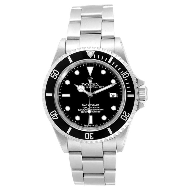 NEW Rolex Sea Dweller 16600 Y Series 2002 Wristwatch Full Set For Sale
