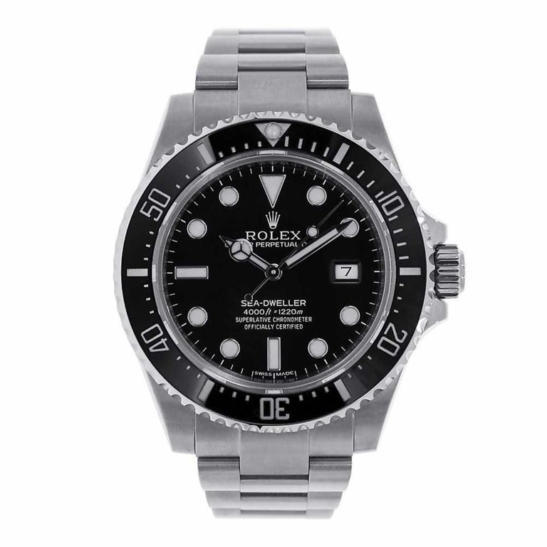 a58714fb20d Rolex Sea-Dweller 4000 Black Ceramic Watch 116600 For Sale at 1stdibs