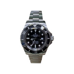 Rolex Sea Dweller Deepsea 126660 Black Ceramic Stainless Steel Box Papers, 2018
