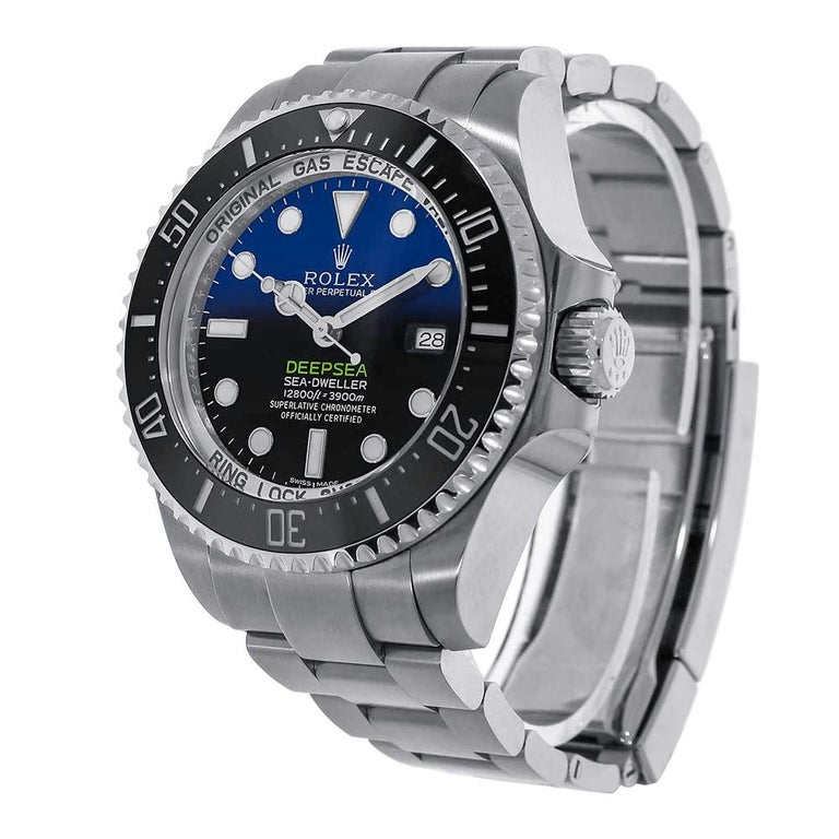 To commemorate the historic dive, undertake by James Cameron, Rolex created a divers watch that matched the wonder only he could deliver. The 126660 reference Sea-Dweller comes with a 44mm stainless-steel case that has a monobloc middle case, a