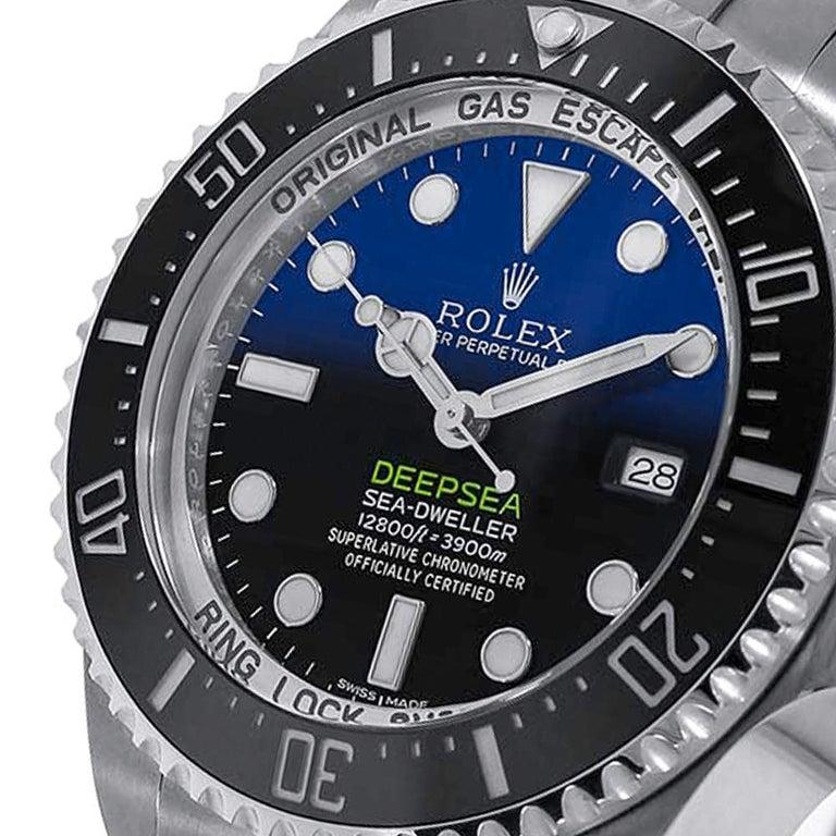 Contemporary Rolex Sea-Dweller Deepsea D-Blue Stainless-Steel Oyster Watch 126660