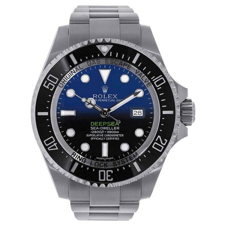 Rolex Sea-Dweller Deepsea D-Blue Stainless-Steel Oyster Watch 126660