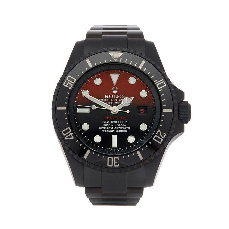 81fdc1d1156 Rolex Sea-Dweller Hercules Custom DLC Coated Stainless Steel 116660 For Sale