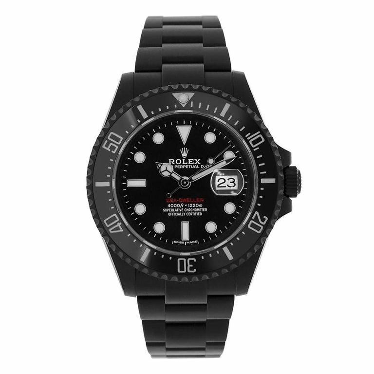 Rolex Sea Dweller Red Pvd Dlc Steel Ceramic Watch 126600