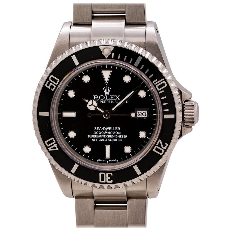 Rolex Sea-Dweller Ref 16600 Stainless, circa 2002 For Sale