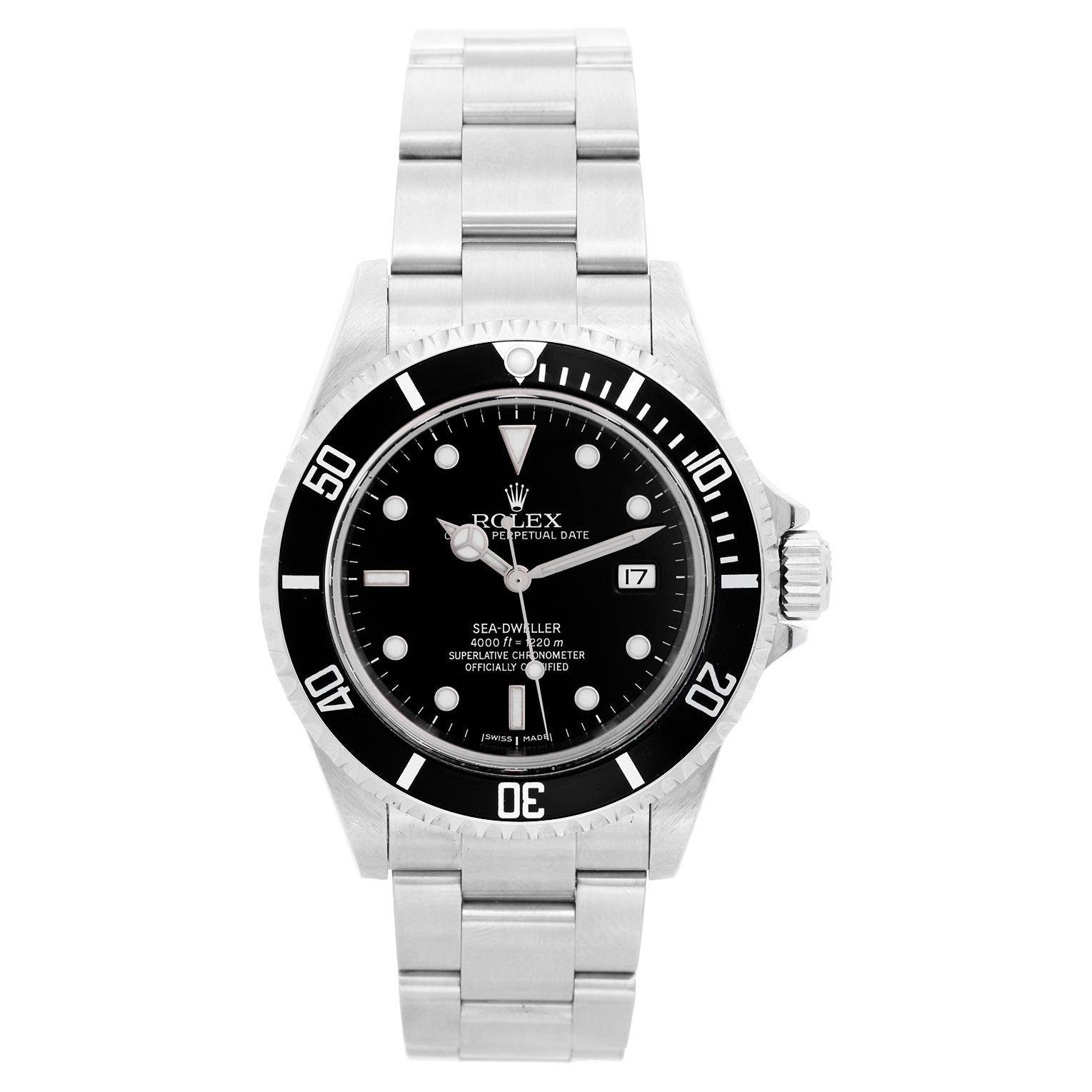 Rolex Sea Dweller Stainless Steel Men's Divers Watch 16600