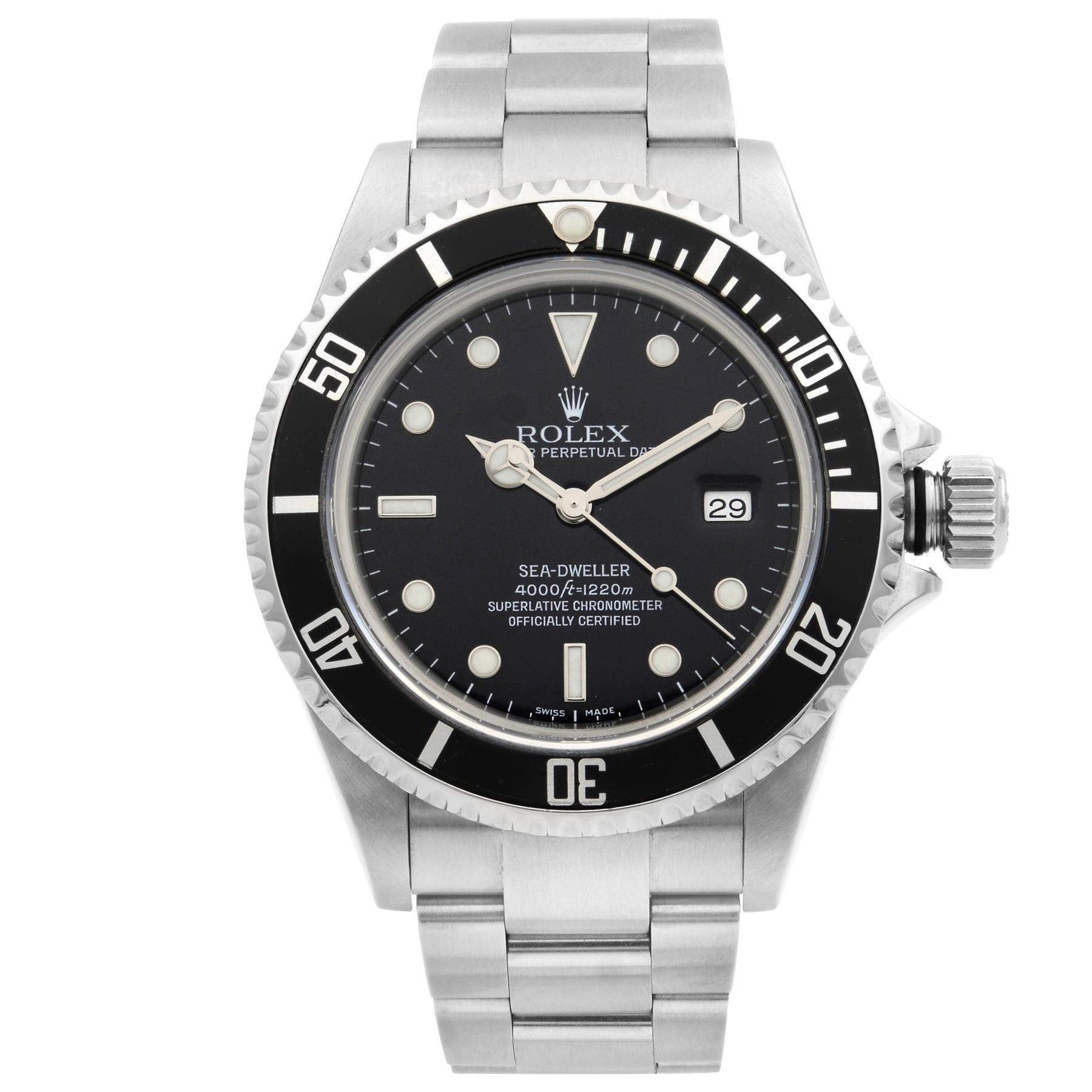 Rolex Sea-Dweller Steel Black Dial Automatic Men's Watch 16600
