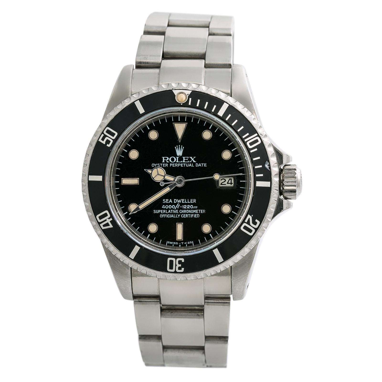 Rolex Sea-Dweller 16660, Black Dial Certified Authentic