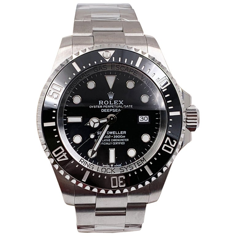 Rolex Seadweller 126660 Black Dial Bezel Stainless Box Papers For Sale
