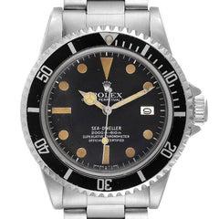 Rolex Seadweller Black Dial Vintage Steel Mens Watch 1665