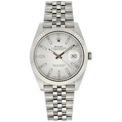 Rolex Silver 126334 Datejust 41 Dial White Gold Jubilee Watch
