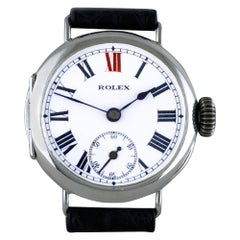 Rolex Silver Officers Trench Watch, 1913